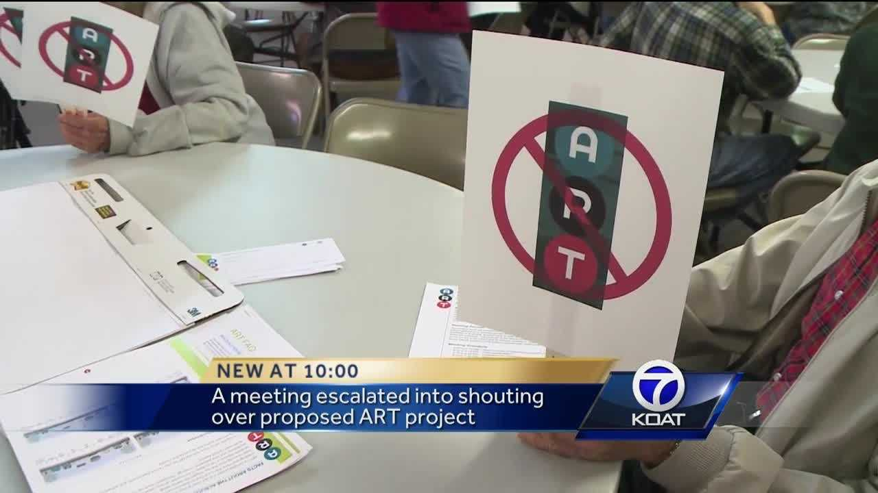 A lot of anger over Albuquerque Rapid Transit. What was supposed to be a public meeting quickly spiraled out of control.