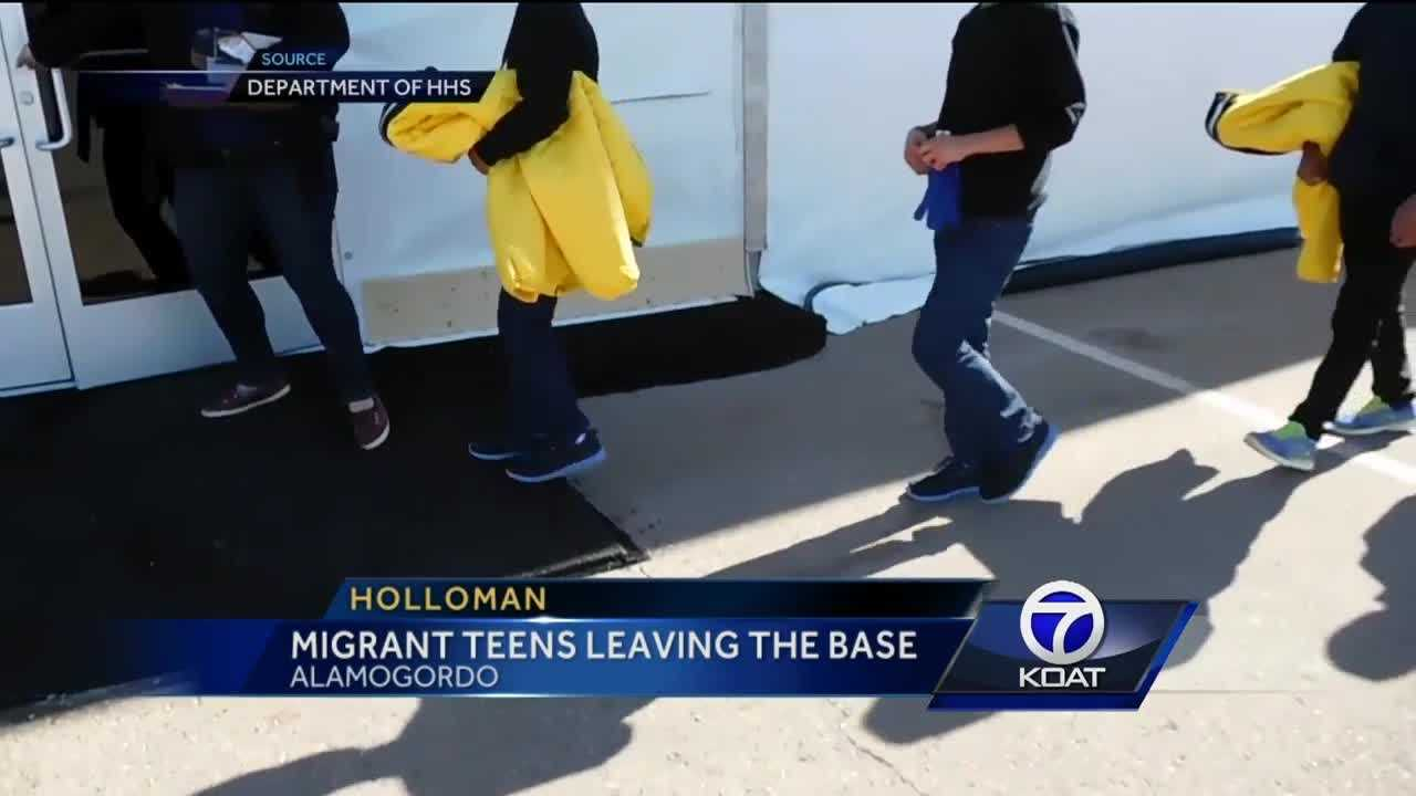 Migrant Teens Leaving Holloman AFB