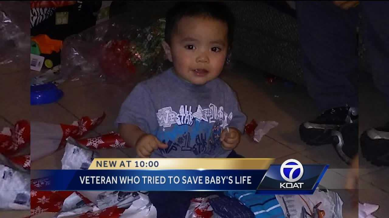 As the Albuquerque community continues to mourn a 1-year-old who police say died while in the care of his mother's boyfriend, Action 7 News is learning a veteran tried to save the boy while paramedics rushed to the scene.