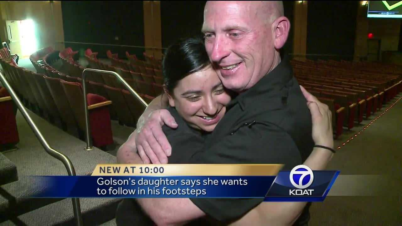 The daughter of an Albuquerque police officer shot multiple times during a traffic stop will graduate from the police department's training academy Thursday morning.
