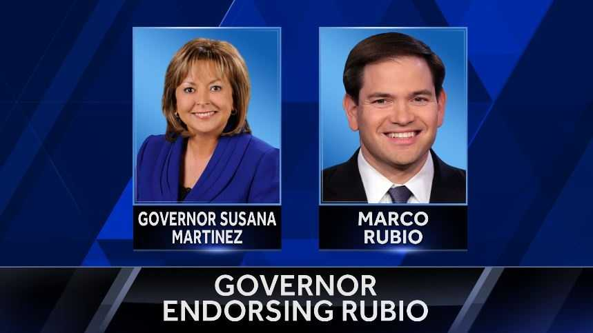 New Mexico Governor Susana Martinez has announced she's endorsing republican Florida senator Marco Rubio for President.