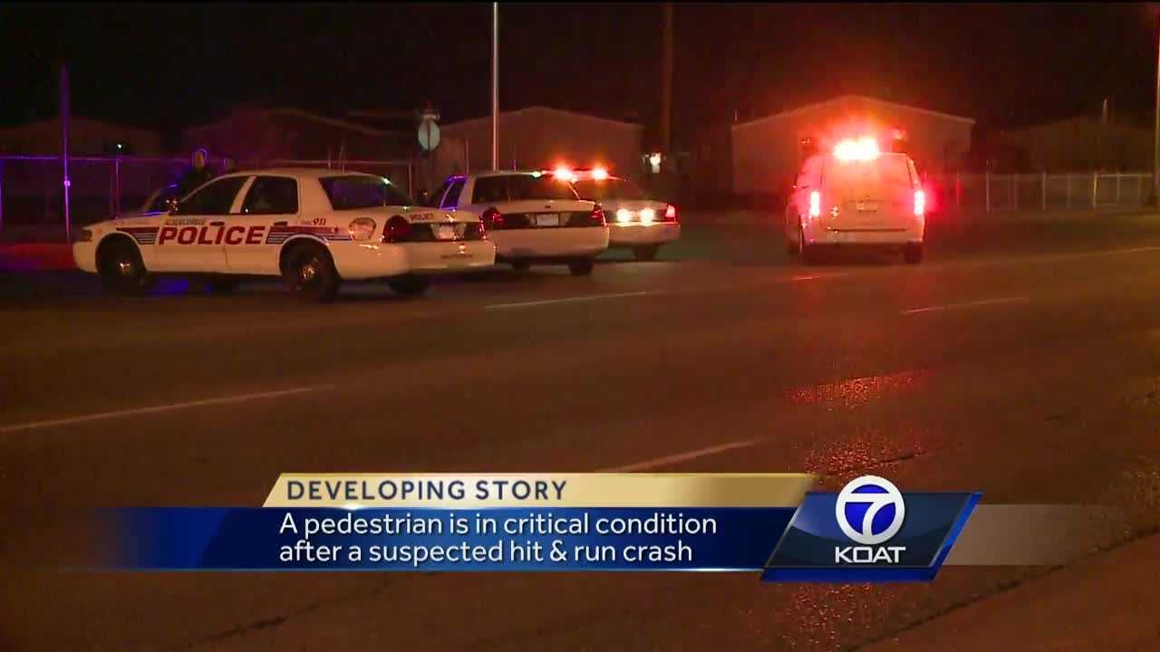 This morning police are looking for the driver who hit a person in southeast albuquerque and took off.