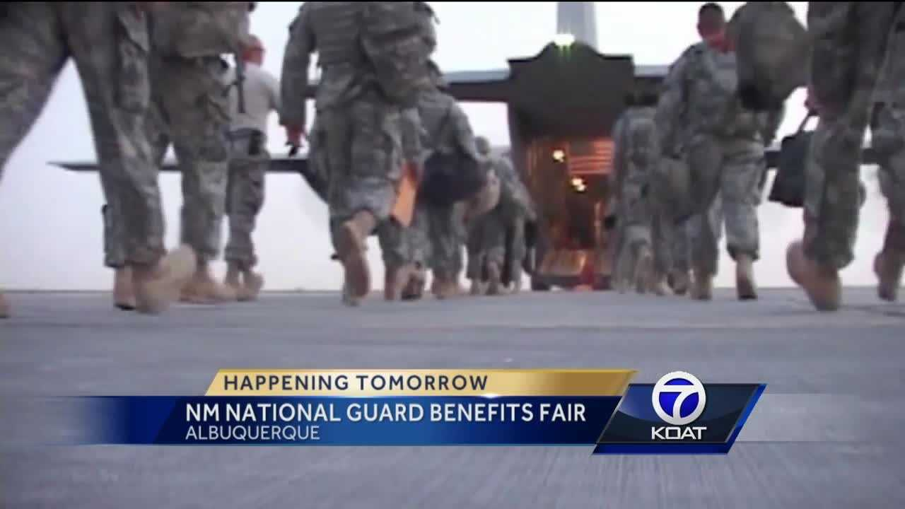 For the first time ever, the New Mexico National Guard and Department of Veterans' Services are having a benefit fair.