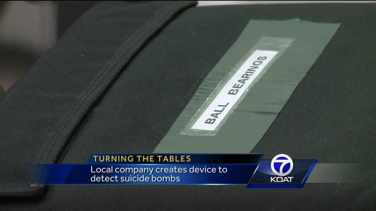 Local company creates device to detect suicide bombs.