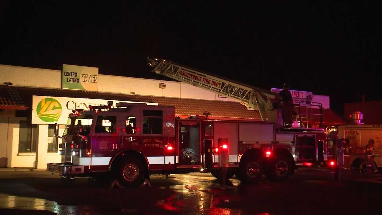 Crews battle fire at business overnight