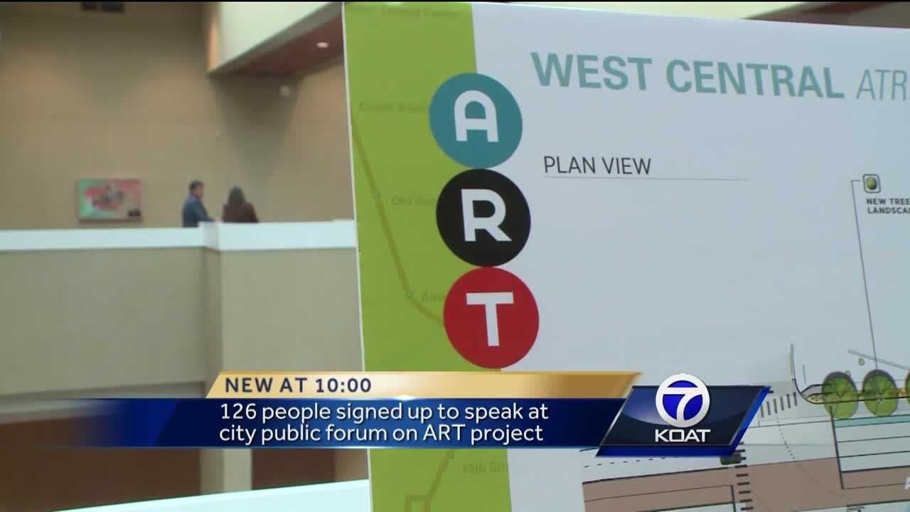 Both supporters and opponents of Albuquerque's proposed rapid transit project filled the Kiva Auditorium on Tuesday night, as city leaders answered questions from the public.