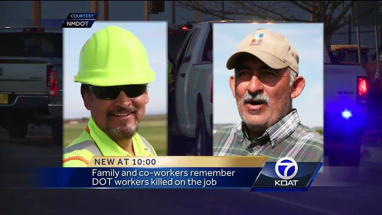 Family and friends are remembering two New Mexico Department of Transportation workers who were struck and killed by a motorist on State Road 120 on Monday afternoon.