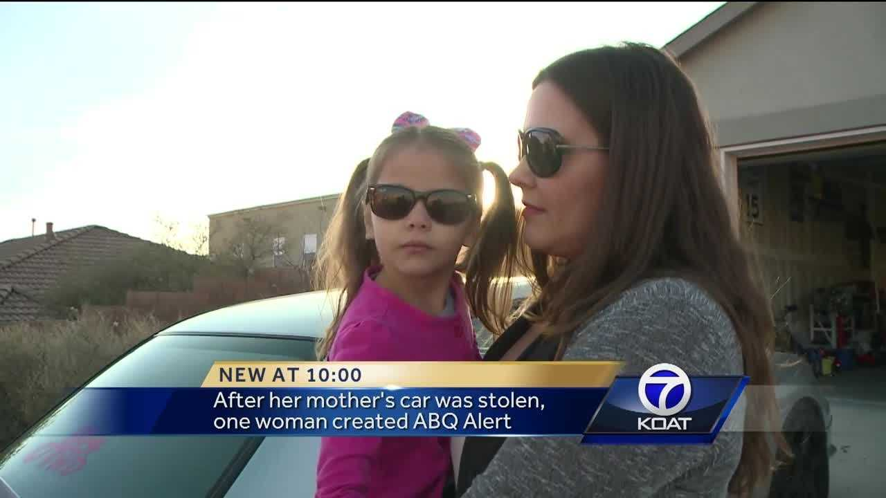 A Rio Rancho woman is using Facebook to help people try and find their stolen cars.