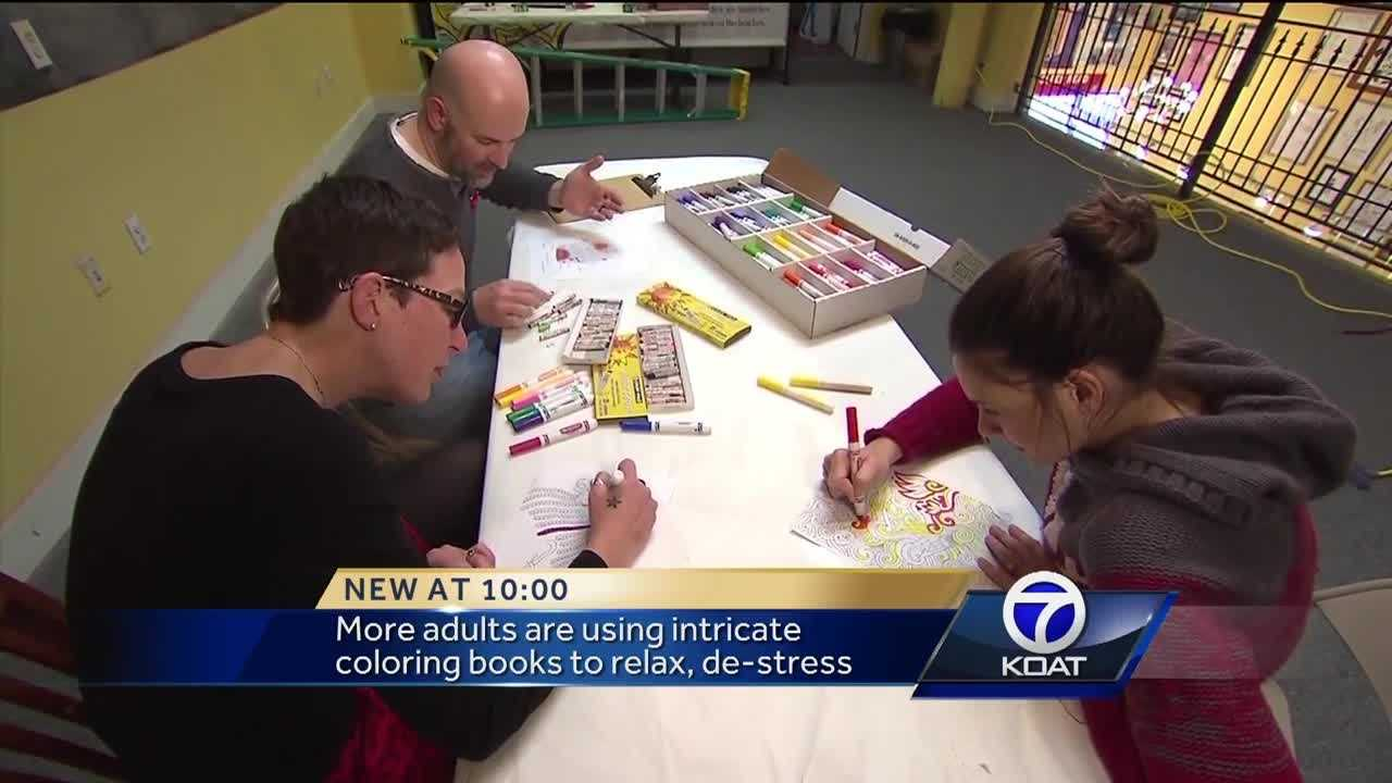 More adults are using intricate coloring books to relax, cut down on stress.