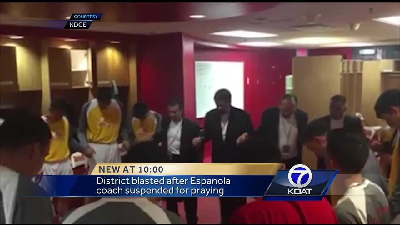 Friends and family packed an Espanola Public Schools board meeting Wednesday night, demanding that one of the district's most beloved basketball coaches be allowed to come back to work.