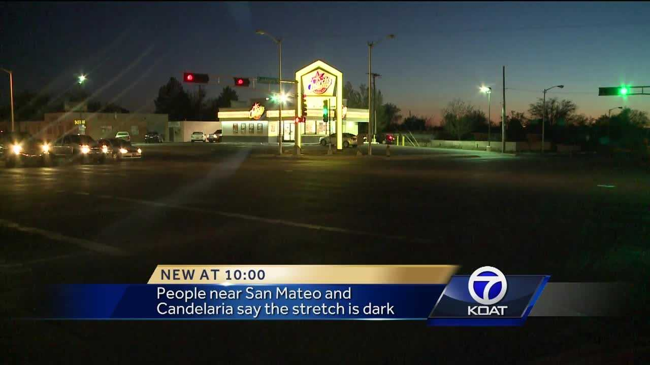 A northeast Albuquerque neighborhood is worried someone will get hurt because their street is pitch black right now.