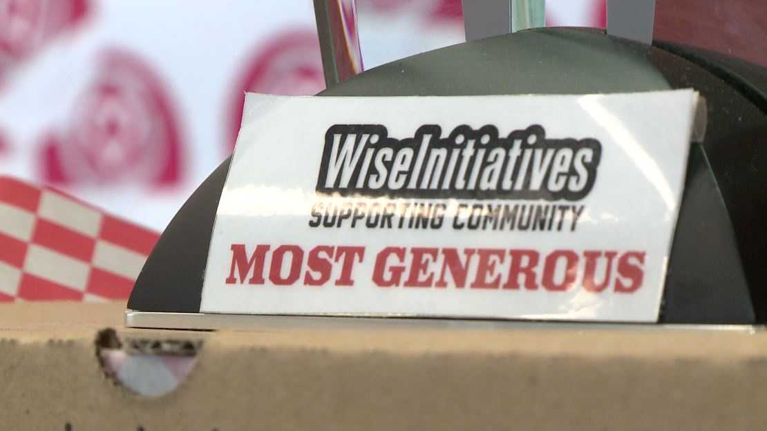 WisePies Helping APS Community Clothing Bank