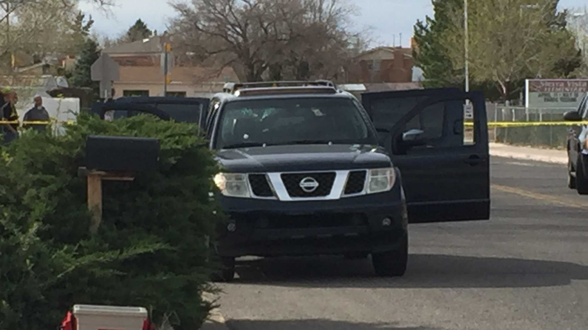 Shots were fired Thursday afternoon near Sierra Vista Elementary during a road rage incident. Bernalillo County Sheriff Department deputies said the incident began near Paseo Del Norte and Unser streets between a Blue Nissan Pathfinder and a white, four-door Buick.