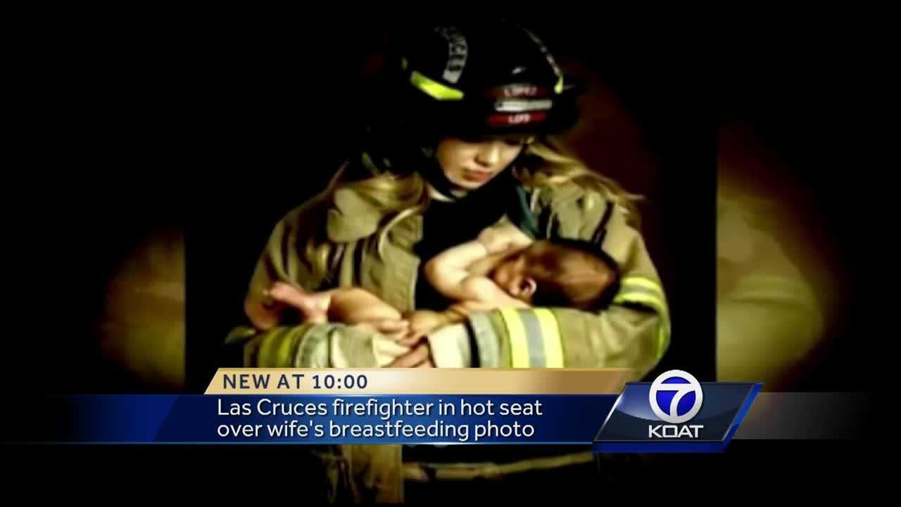 NM firefighter in hot seat over wife's breastfeeding photo