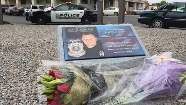 Memorial dedicated to Officer Daniel Webster