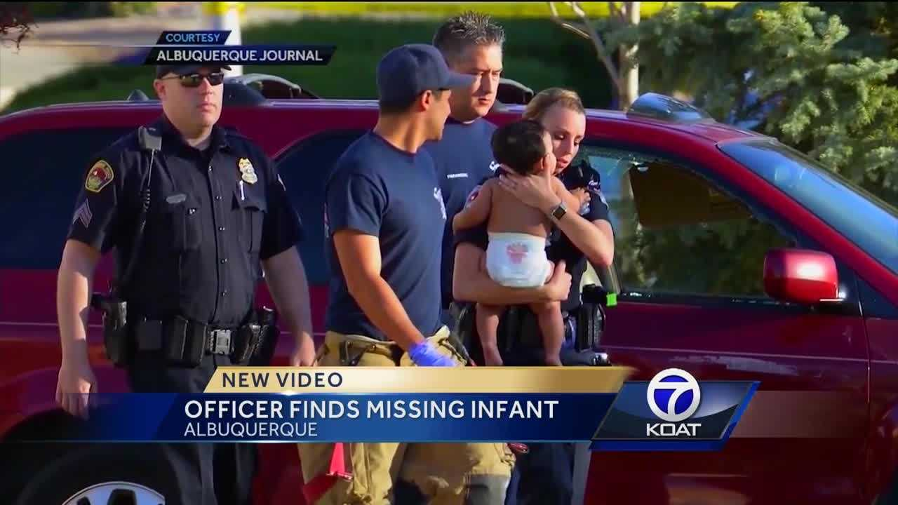We're getting a close up look at the moments police found the 9-month-old baby.