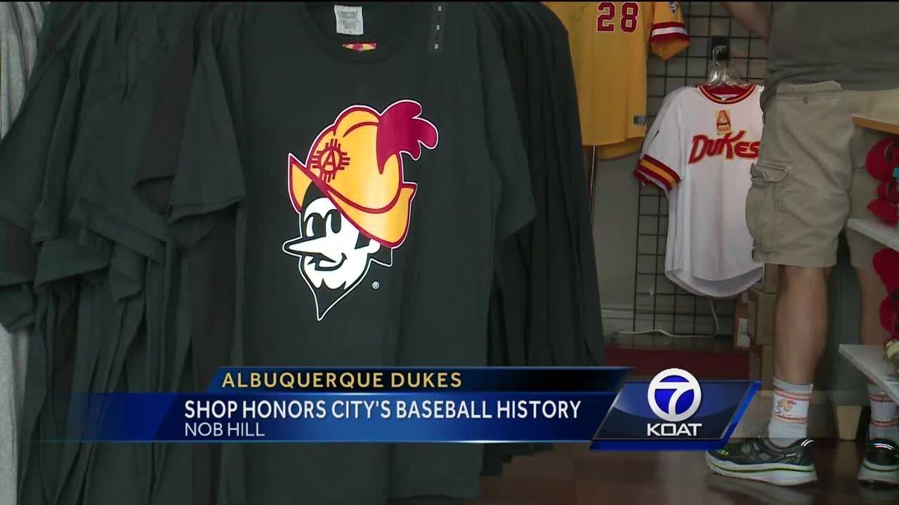 Nob Hill shop honors Albuquerque's baseball history by selling Dukes apparel