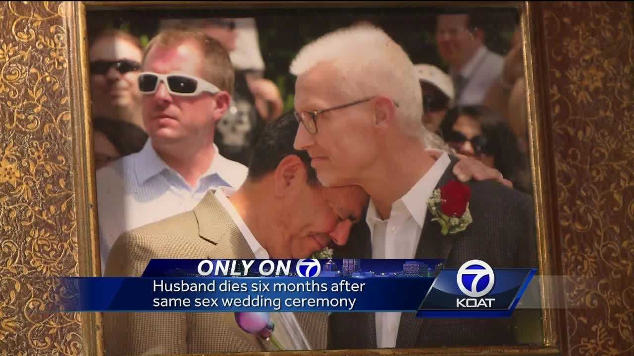 Anthony Gonzales married his partner of 16 years, Mark Johnson, in a mass ceremony the day after it became legal in Bernalillo County.