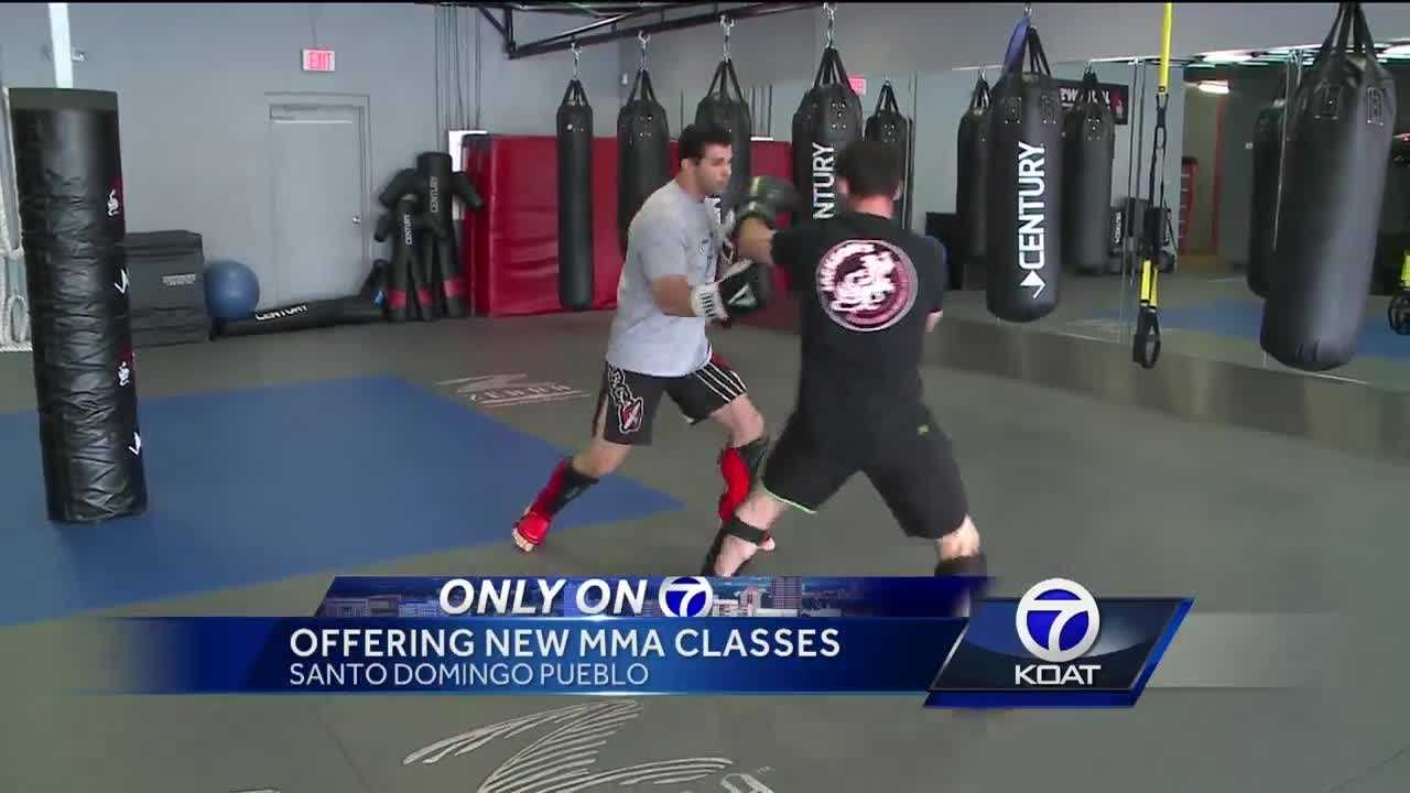 For the first time ever MMA classes are being offered on the Santo Domingo Pueblo.
