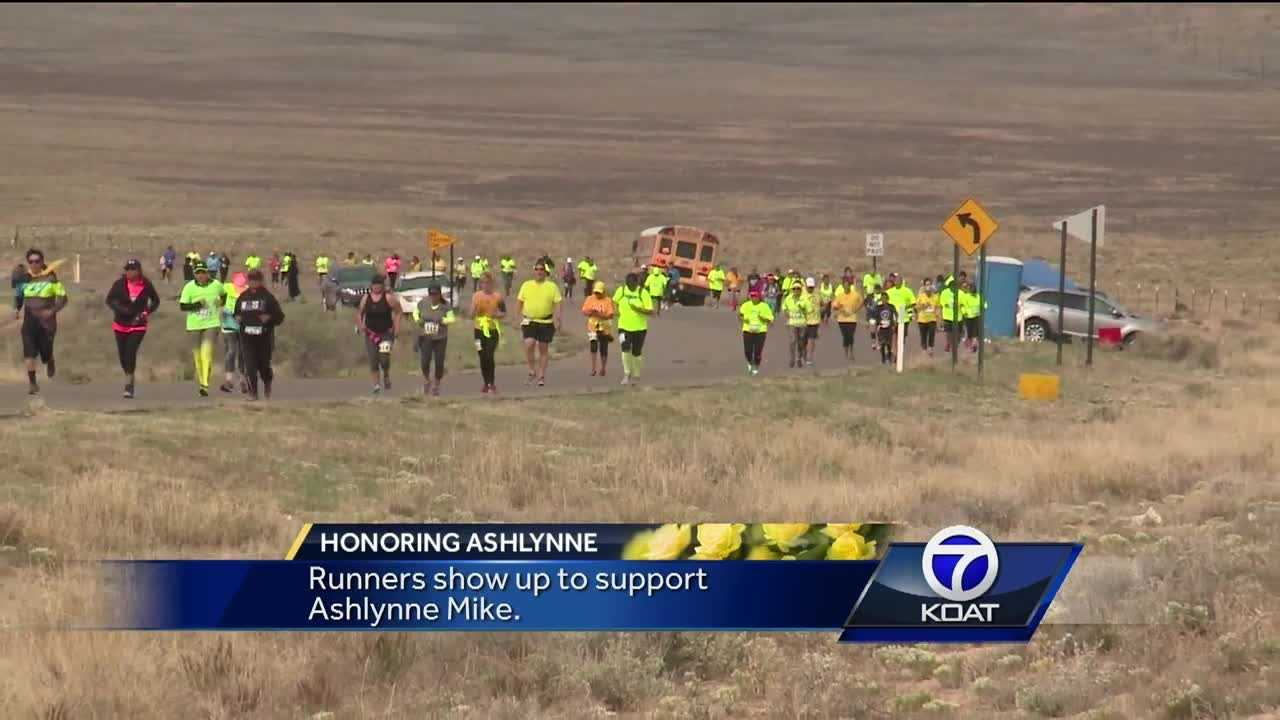 Thousands of runners showed up for the annual Shiprock Marathon to show support for Ashlynne Mike.