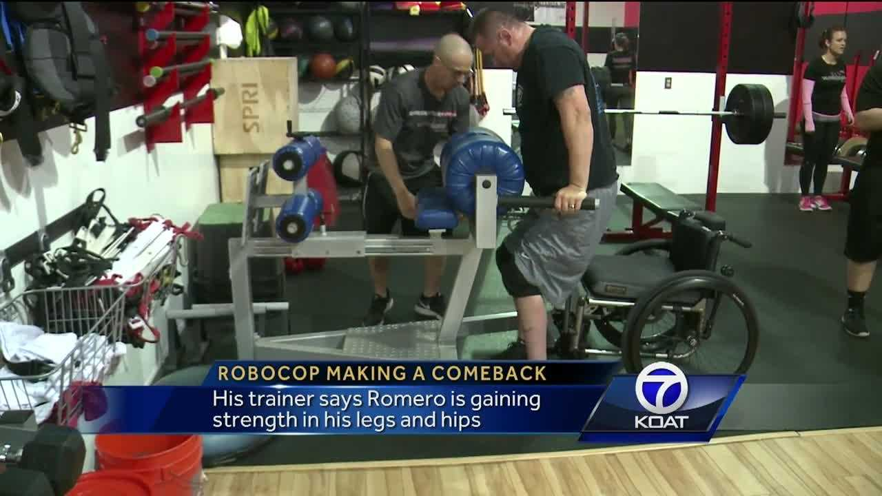 New Mexico's Robocop begins to regain leg movement