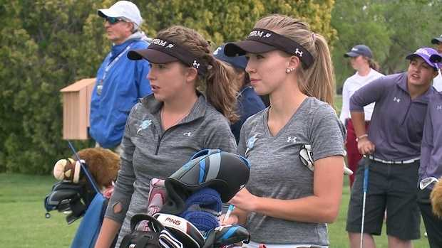 New Mexico's top two female golfers not only go to the same high school. They also live in the same house.