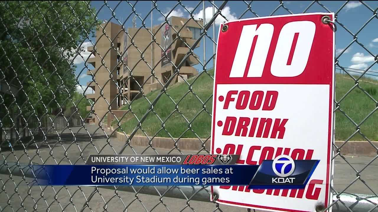 Proposal would allow beer sales at University Stadium during games.