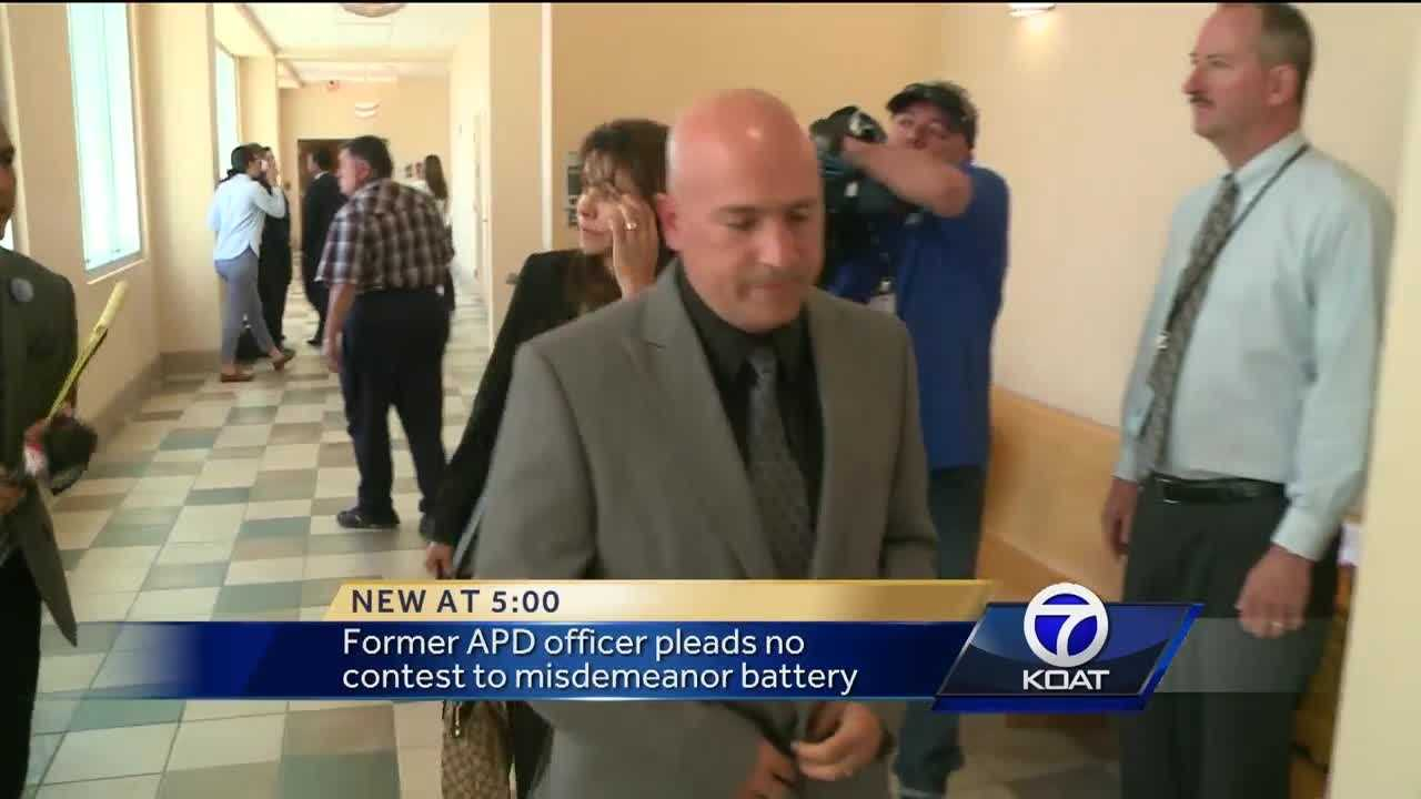Former APD officer pleads no contest to misdemeanor battery.