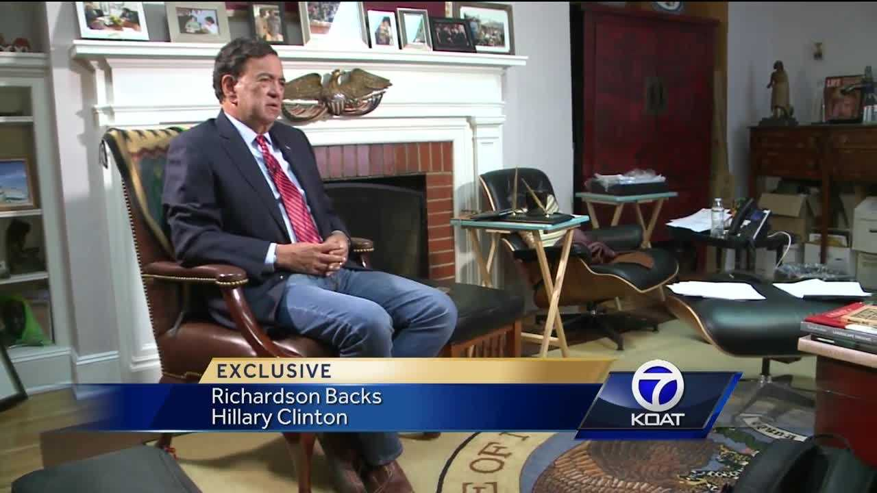 Former governor Bill Richardson talks about the presidential race.