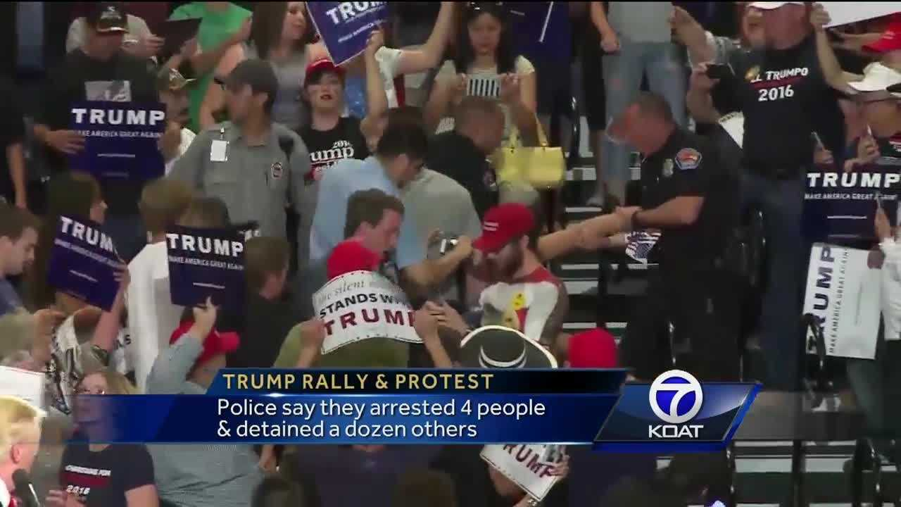 People Arrested at Trump Rally