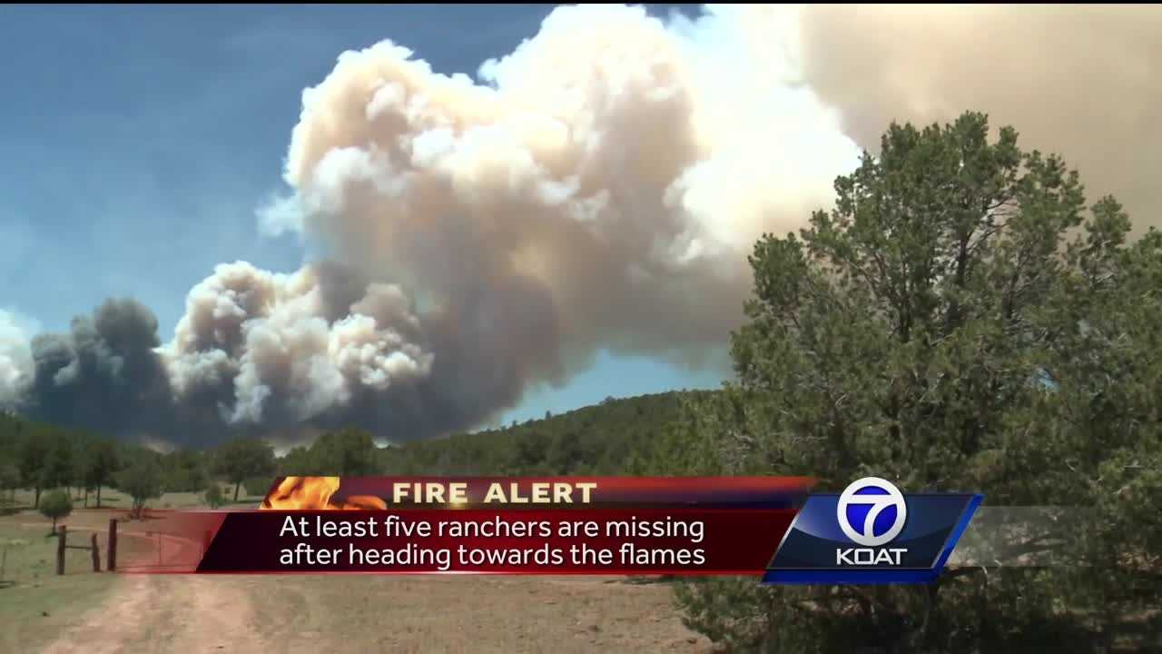 The Dog Head fire is moving towards farms, forcing people to move animals.