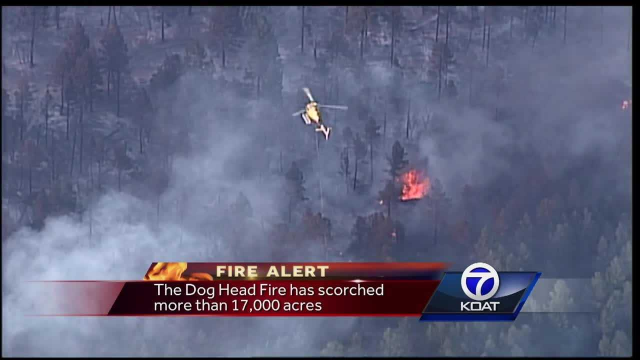 The Dog Head Fire has scorched more than 17,000 acres.
