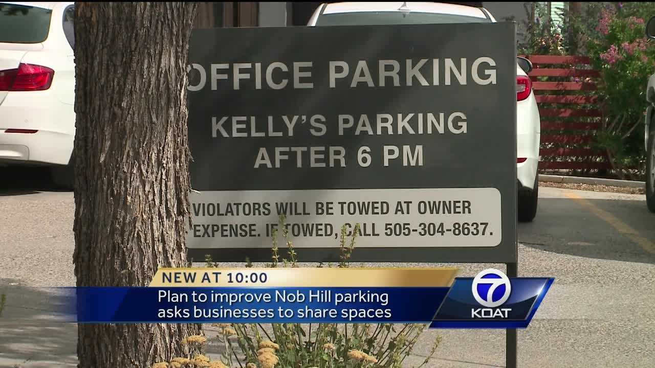 Nob Hill Main Street staff and City Councilman Pat Davis are now working to find businesses that only use parking lots during the day and open up those spaces for businesses who see customers at night.