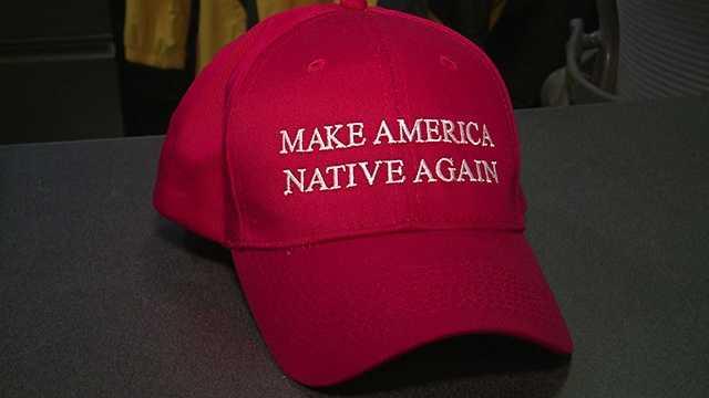 Navajo designer mocks Donald Trump with 'Make America Native Again' hats