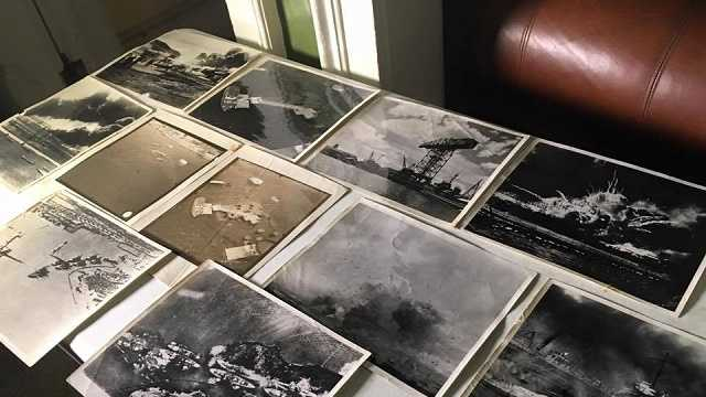 Family finds vintage photos of Pearl Harbor attack in home
