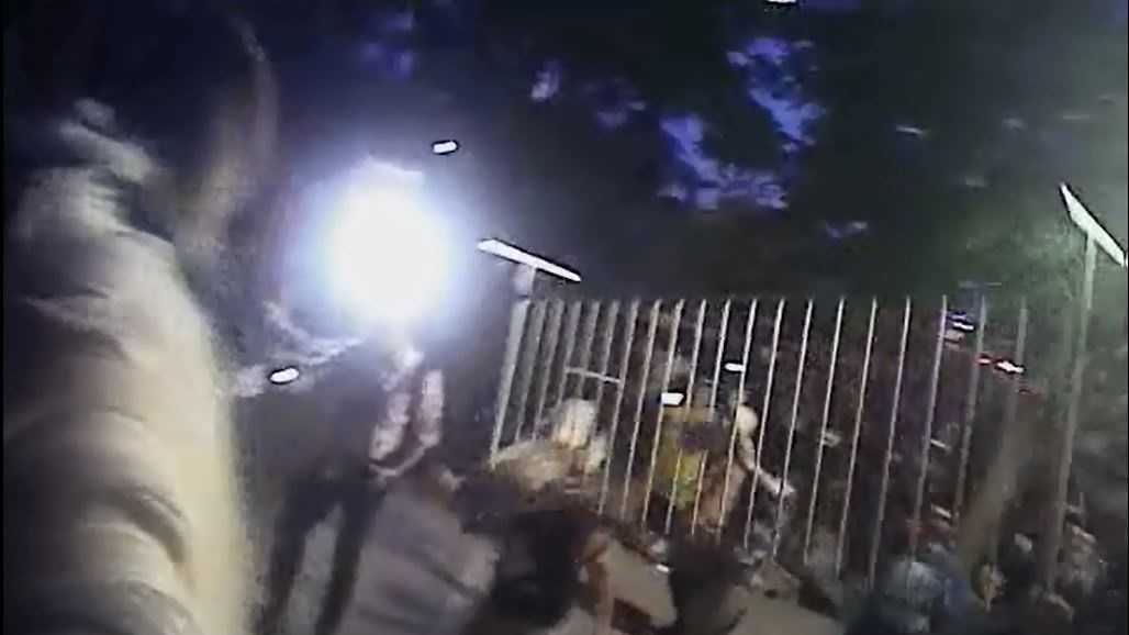 Albuquerque police has released new body camera footage taken by officers during the chaos of the Donald Trump protests over a month ago.