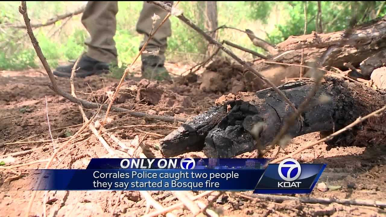 Corrales Police caught two people they said started a Bosque fire.
