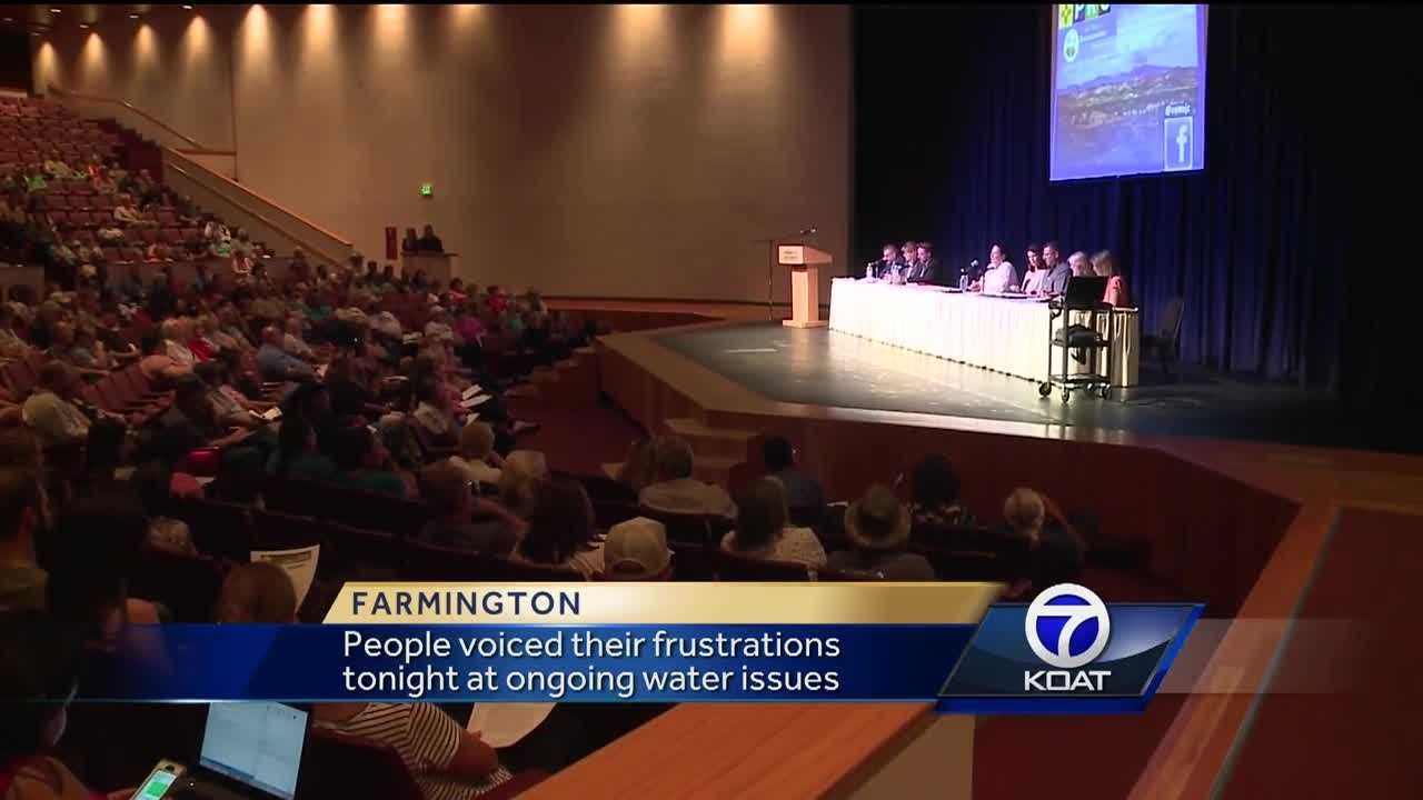 People voiced their frustrations tonight at ongoing water issues.