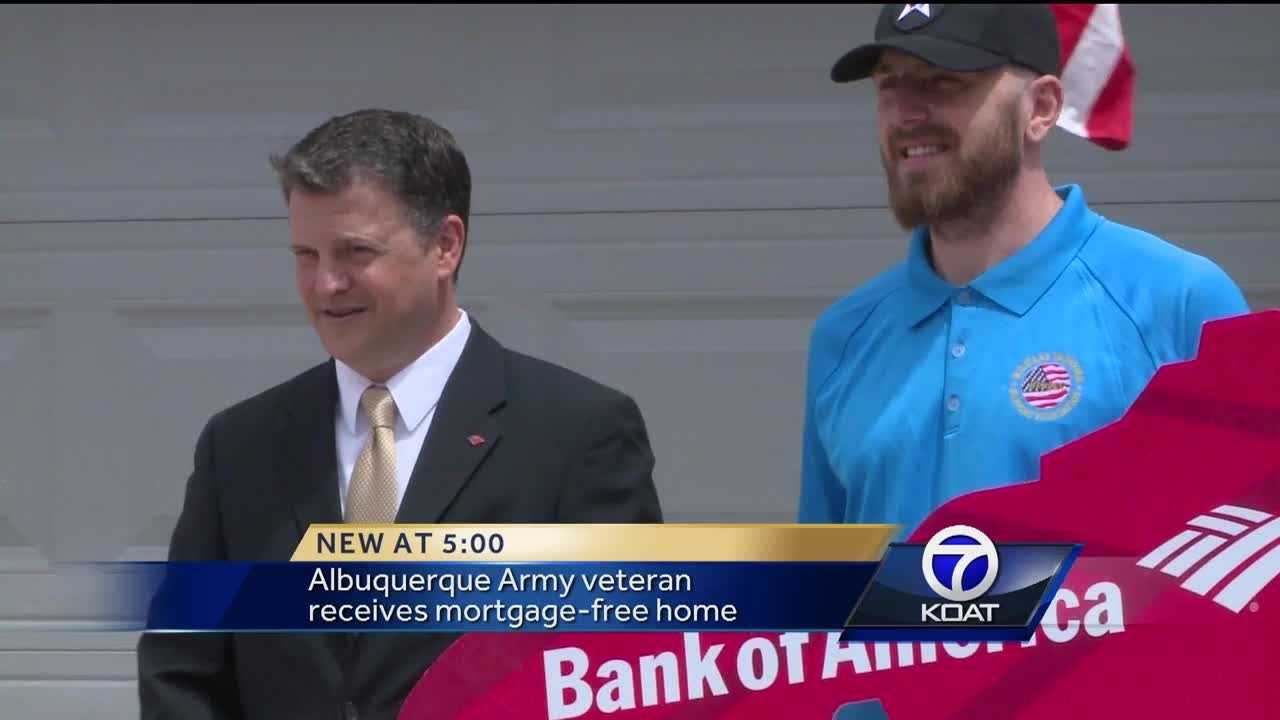 Army veteran gets a free home
