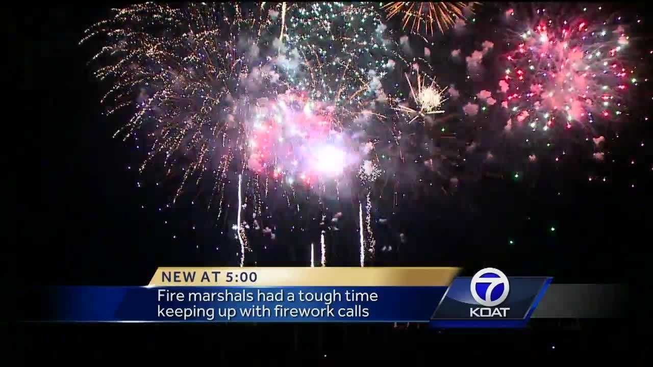The Albuquerque Fire Department said more than 1,500 people called to report illegal fireworks Monday night.