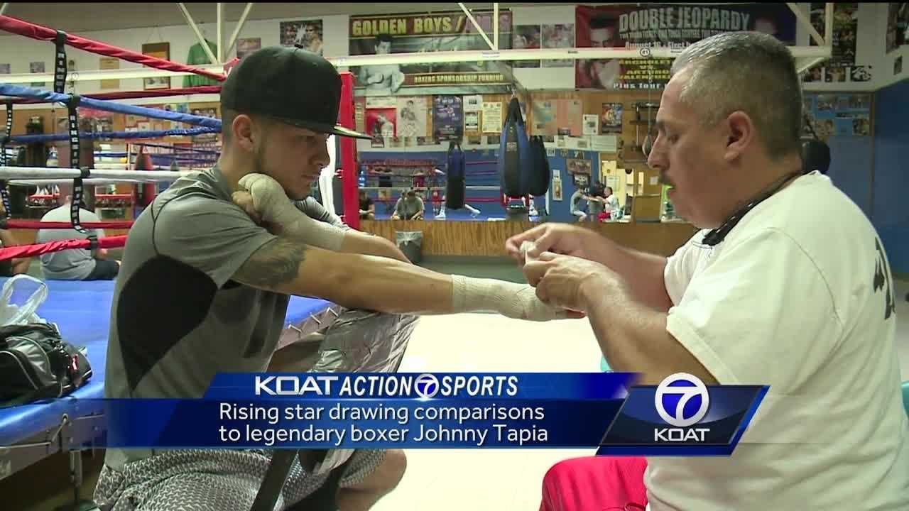 Rising star drawing comparisons to legendary boxer Johnny Tapia.