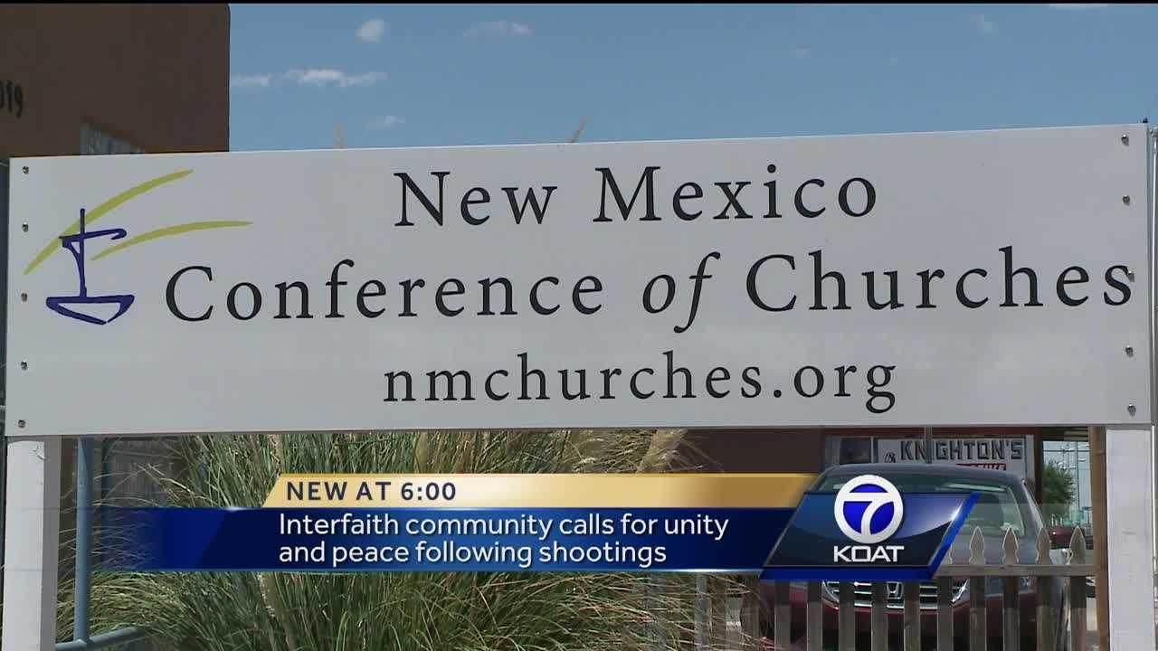 Interfaith community calls for unity and peace following shootings