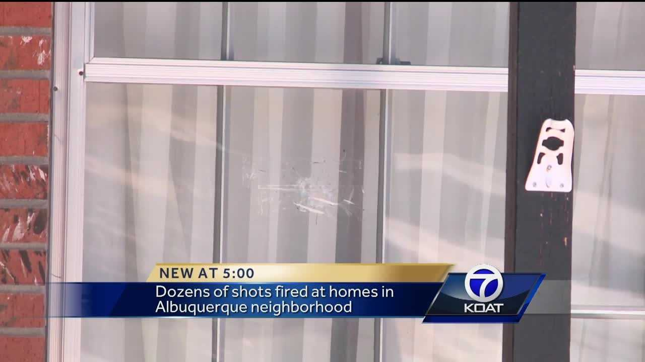 Dozens of shots fired at homes