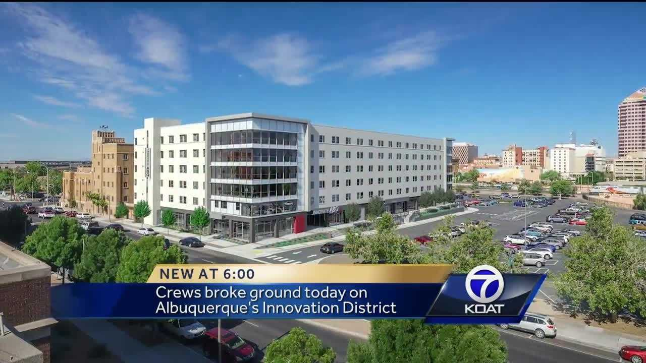 Crews broke ground Tuesday on Albuquerque's Innovation District.