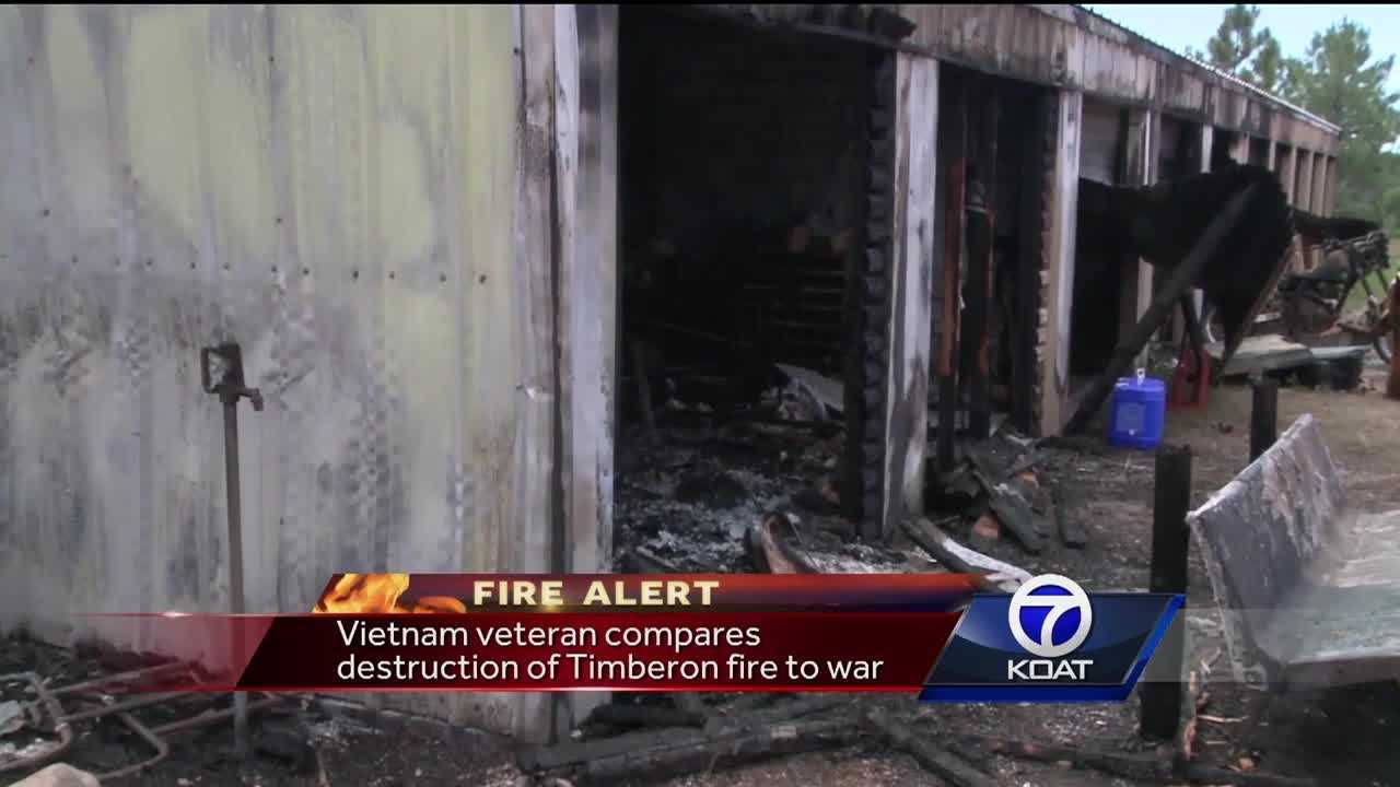 Vietnam veteran loses home in fire