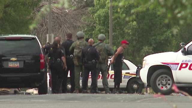 SWAT suspect surrenders after armored vehicle arrives