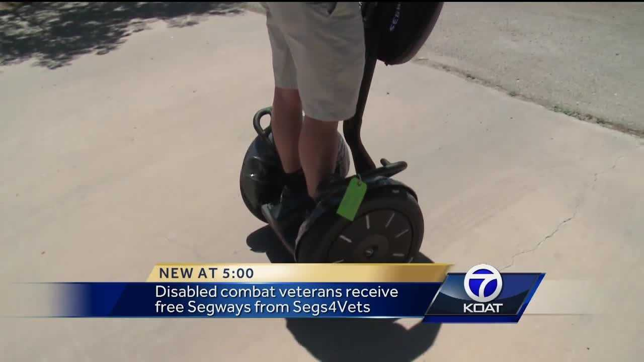 Hundreds of disabled veterans now have more freedom to move around because of Segways.