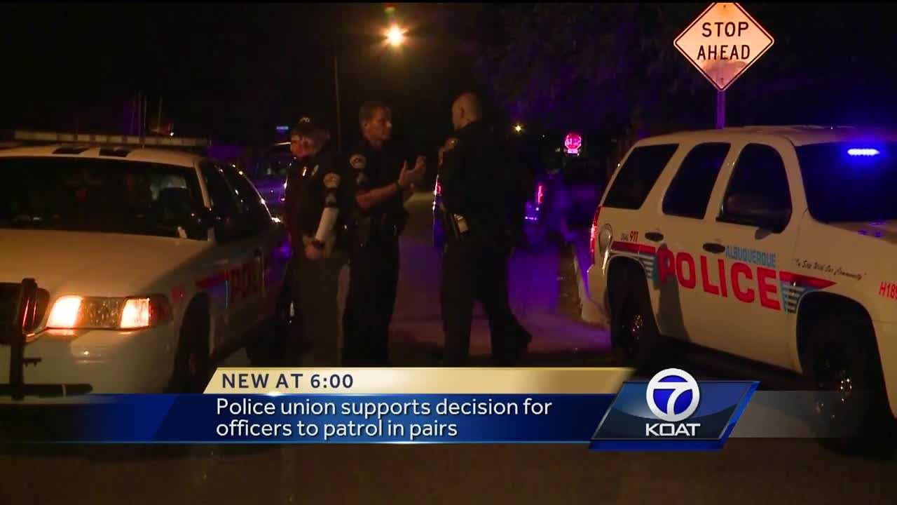 The Albuquerque Police department relaxed a certain policy last week, but after what happened in Baton Rouge, Louisiana, they are again patrolling in pairs. The police union said it's a smart move for safety.