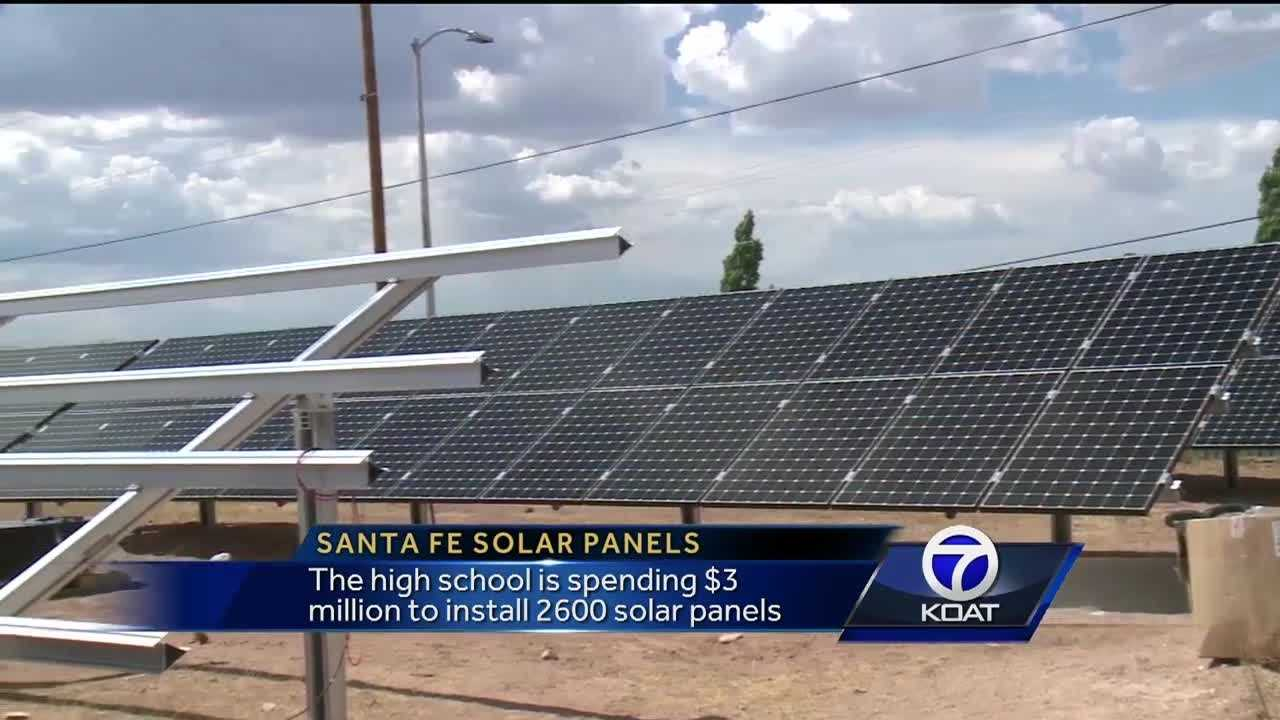 The high school is spending $3 million to install 2,600 solar panels.