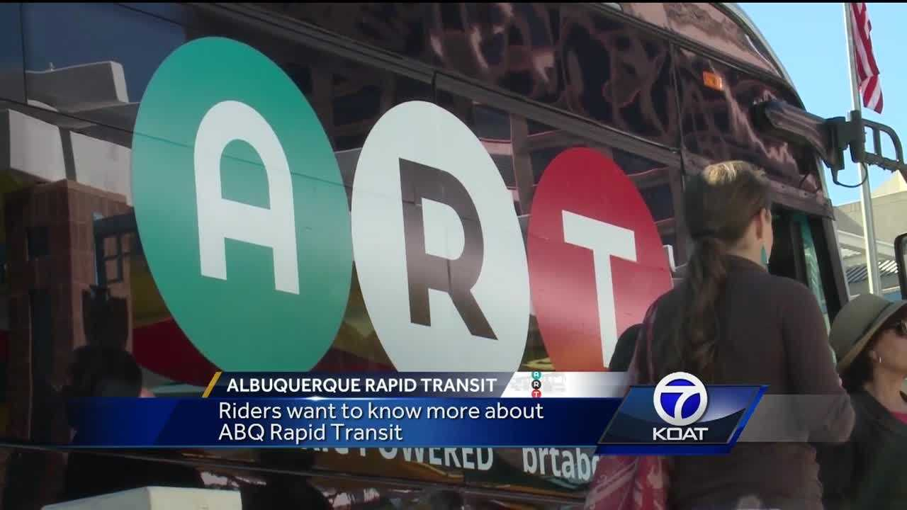 KOAT reporter Angela Brauer found out what bus riders think about the upcoming 'ART' project.